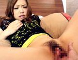 Ayumu Sena gives a closeup of her pussy being fingered