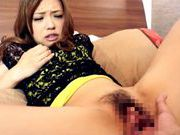 Ayumu Sena gives a closeup of her pussy being fingeredasian ass, asian women}