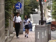Blowjob pro Akira Fubuki in her school uniform
