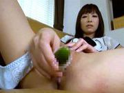 Teen masturbates with food before she gets the real thingjapanese porn, hot asian pussy}