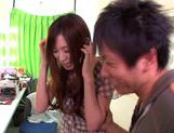 Saki Ayano gets lots of cum in her mouth picture 3
