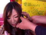 Saki Ayano gets lots of cum in her mouth picture 5