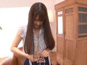 Cute teen Ai Nikaidou fucks with horny guy with cum on face