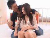 Saki Ayanao Hot Asian MILF enjoys a hard fucking picture 14