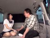 Japanese AV Model in school uniform hardcore action with cumshot picture 10