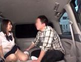 Japanese AV Model in school uniform hardcore action with cumshot picture 14
