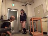 Sexy Japanese AV Model in school uniform enjoying hardcore action