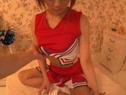 Japanese AV Model teen cheerleader fucked doggystyle
