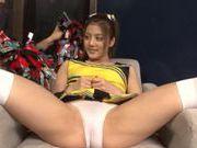 Japanese AV Model enjoys sex toys pleasure with insertion