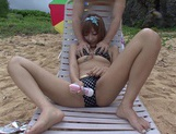 Kirara Asuka Gets An Oily Massage And Sucks Dick At A Beach
