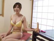 Yui Akane Rides A Dildo That Stretches Her MILF Pussy