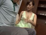 Asian milf Kokone Mizutani is a housewife enjoying sucking cock picture 14