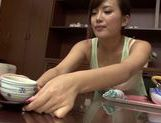 Asian milf Kokone Mizutani is a housewife enjoying sucking cock picture 6