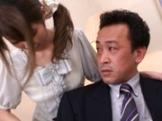 Miho Imamura Naughty Asian waitress enjoys giving blowjobs