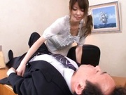 Miho Imamura Naughty Asian waitress enjoys giving blowjobs