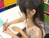 Miku Asaoka cream pie after school studies! picture 11