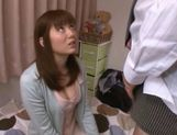 Yuma Asami gets sticky cum on her throat! picture 11