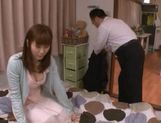 Yuma Asami gets sticky cum on her throat! picture 9