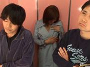 She just wants to suck some: Yuma Asami giving double blowjob