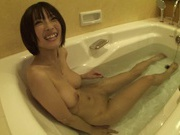 Bathing Teen Yuzu Ogura Gives A Blowjob And Masturbates