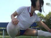 Gorgeous Japanese AV teen girl Hitomi Miyano enjoys facial