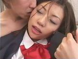 Sexy Asian schoolgirl Anna Akizuki gets her pussy rubbed