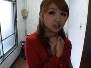 Rion Oqura Asian babe gives sensual blowjob