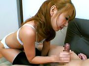 Rion Oqura Asian babe gives sensual blowjobfucking asian, young asian}