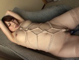 Hana Masaki Is All Tied Up As She Gives Him A Blowjob picture 15