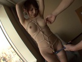 Hana Masaki Is All Tied Up As She Gives Him A Blowjob