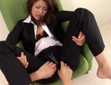 Horny Office Girl Fucked Through Her Pants After A Long Day picture 14
