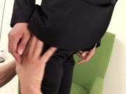 Horny Office Girl Fucked Through Her Pants After A Long Day
