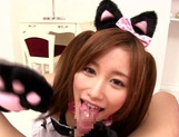 Eiro Chica Asian teen enjoys sucking cock as a catgirl picture 13