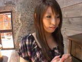 Syoko Akiyama Asian babe fondles her pussy