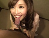 MILF Rina Kato Pulls Her Panties To The Side For Cock picture 11