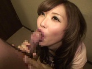 MILF Rina Kato Pulls Her Panties To The Side For Cock
