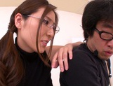 Hot female teacher Yuna Shiina and hot guy like oral sex games picture 15
