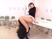 Hot female teacher Yuna Shiina and hot guy like oral sex gamesasian pussy, japanese pussy}