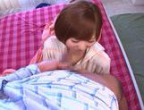 Enticing Japanese AV model gives amazing blowjob picture 12
