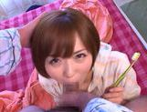 Enticing Japanese AV model gives amazing blowjob picture 14