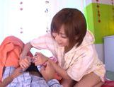 Enticing Japanese AV model gives amazing blowjob picture 5