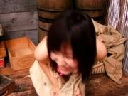 Yukari Fujima Fondling Her Huge Hooters