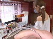 Cute Japanese doll Akiho Yoshizawa in cock sucking POV action