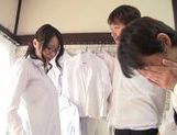 Busty teacher Kayede Niiyama teases horny students picture 11