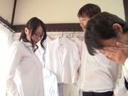 Busty teacher Kayede Niiyama teases horny students