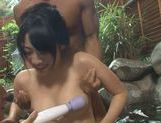 Yummy Japanese AV babes get teased and suck hard dick picture 12