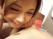 Sexy Asian milf Ayumu Sena Asian model rides on a cock