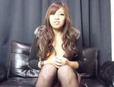 Alluring Japanese AV model drills her pussy and gets pounded picture 15