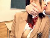 Schoolgirl Natsumi Katoh gets her glasses covered in cum picture 13