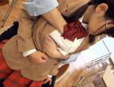 Schoolgirl Natsumi Katoh gets her glasses covered in cum picture 7